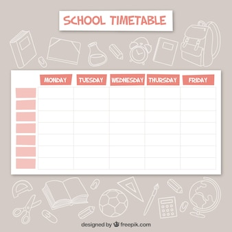 Elegante calendario escolar