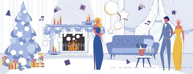Elegante celebración de fiesta de año nuevo
