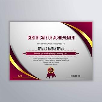 Elegante certificado abstracto