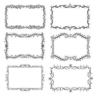Elegante colección de marcos ornamentales