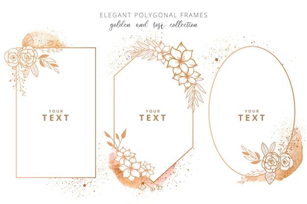 Elegante colección de marcos poligonales