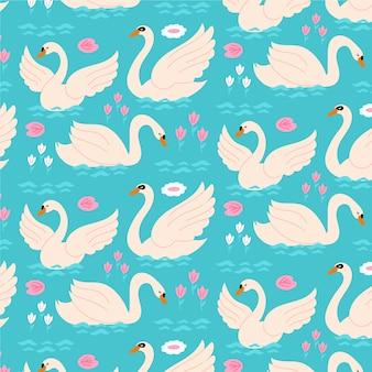Elegante colección de patrones de cisne