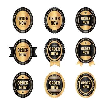 Elegante colección de pegatinas order now