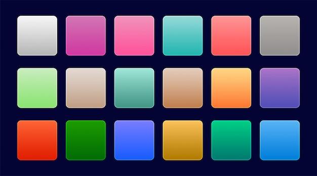 Elegante conjunto de coloridos degradados web