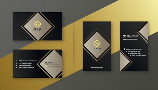 Elegante conjunto de plantillas de tarjeta de visita negro
