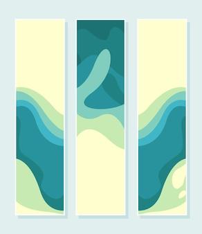 Elegante corte de papel de onda abstracta