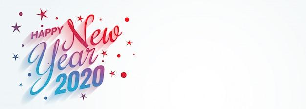 Elegante creativo feliz año nuevo 2020 banner