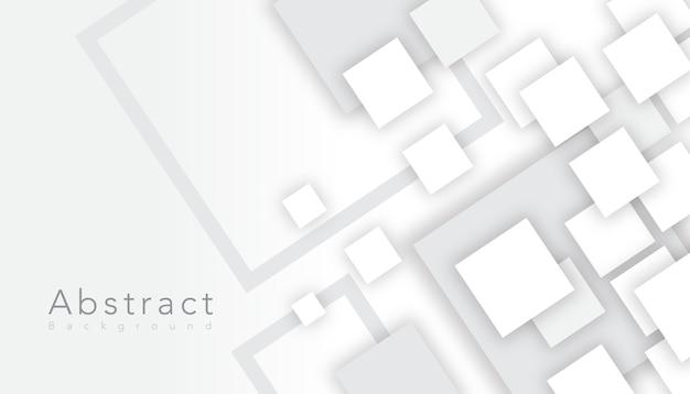 Elegante cuadrado abstracto blanco