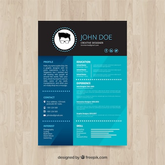 Elegante currículum de diseñador creativo
