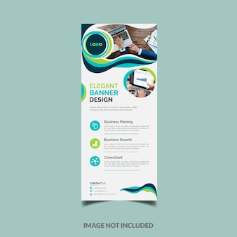 Elegante diseño de banner enrollable de negocios