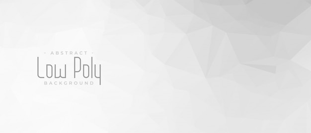 Elegante diseño de banner geométrico abstracto gris bajo poli