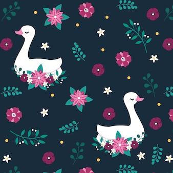 Elegante diseño de cisne