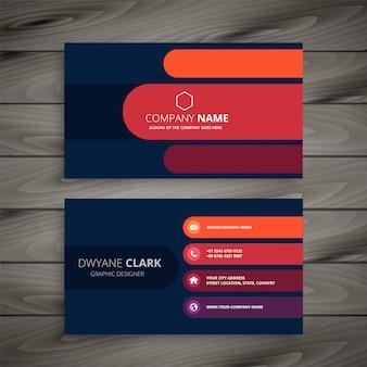 Elegante diseño de tarjeta de visita plantilla