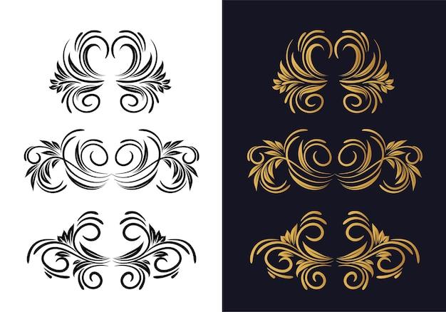 Elegante diseño decorativo decorativo floral ornamental