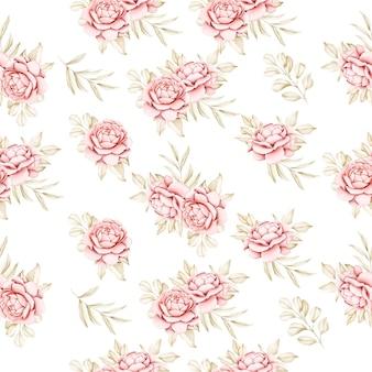 Elegante diseño floral de invitación de boda