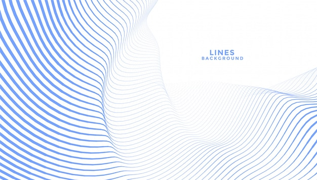 Elegante diseño de fondo abstracto de líneas onduladas azules