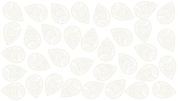 Elegante diseño de fondo blanco paisley indio