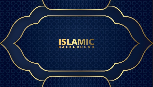 Elegante diseño de fondo islámico de lujo