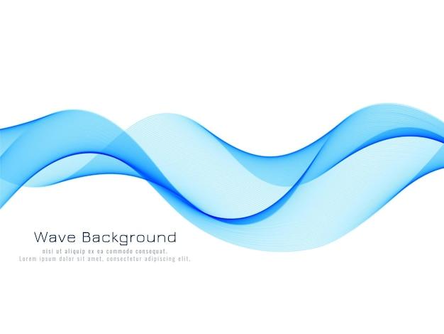 Elegante diseño de fondo de onda azul