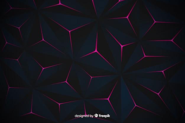 Elegante diseño de fondo poligonal oscuro
