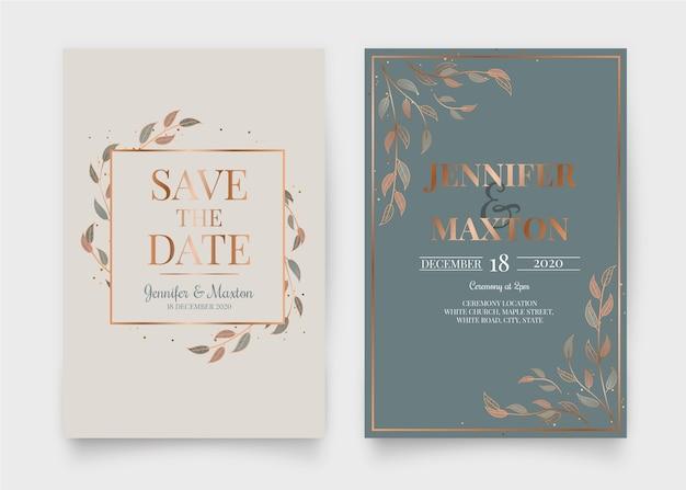 Elegante diseño de invitación de boda