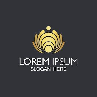Elegante diseño de logotipo abstracto.