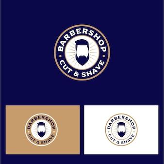 Elegante diseño de logotipo de barbería