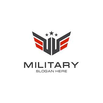 Elegante diseño de logotipo militar