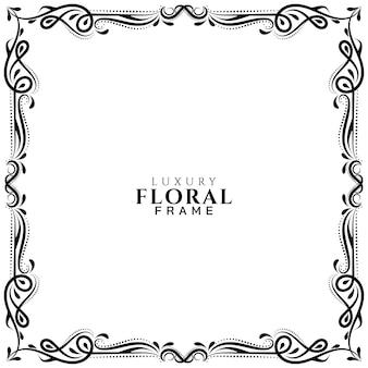 Elegante diseño de marco floral decorativo.