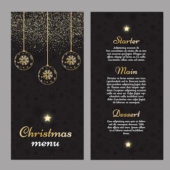 Elegante diseño de menú navideño