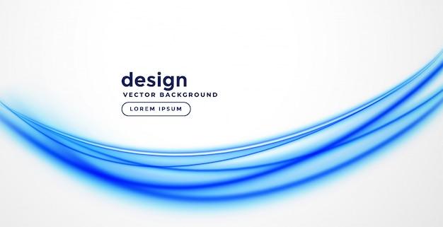 Elegante diseño de onda de presentación azul.