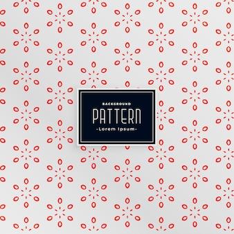 Elegante diseño de patrón blanco y rojo estilo flor
