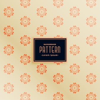 Elegante diseño de patrones sin fisuras de estilo indio flor