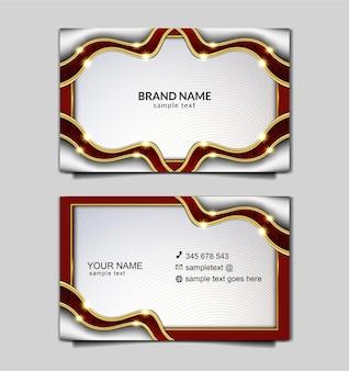 Elegante diseño de plantilla de tarjeta de negocios de independencia de indonesia
