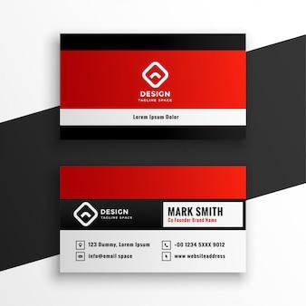 Elegante diseño de plantilla de tarjeta de visita roja moderna