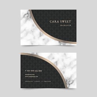 Elegante diseño de plantilla de tarjeta de visita