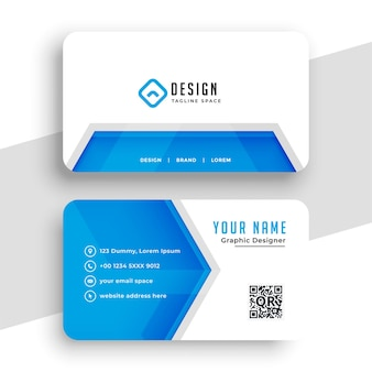 Elegante diseño de tarjeta de visita de empresa azul