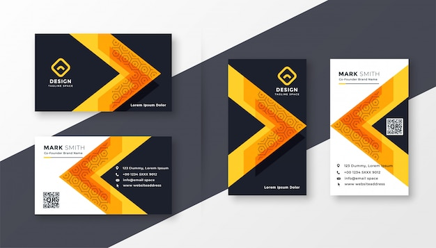 Elegante diseño de tarjeta de visita de empresa.