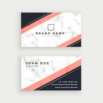 Elegante diseño de tarjeta de visita con textura de mármol