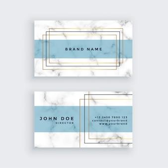 Elegante diseño de tarjetas de visita con textura de mármol.