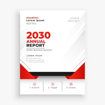 Elegante diseño de volante de folleto comercial de informe anual.