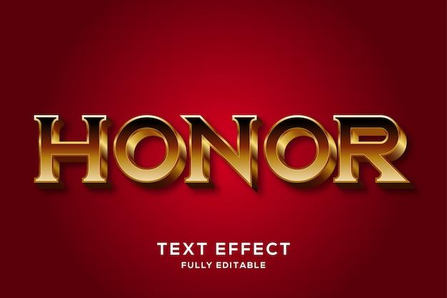 Elegante efecto de estilo de texto 3d de oro medieval