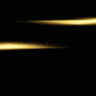 Elegante efecto de luz dorada.
