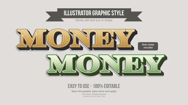 Elegante efecto de texto editable 3d serif