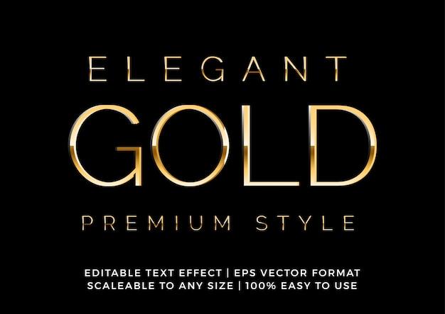 Elegante efecto de texto de lujo dorado premium