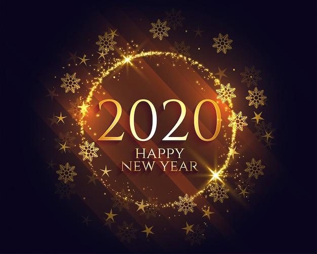 Elegante feliz año nuevo dorado destellos de luz