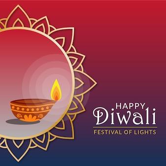 Elegante festival de diwali con vela.