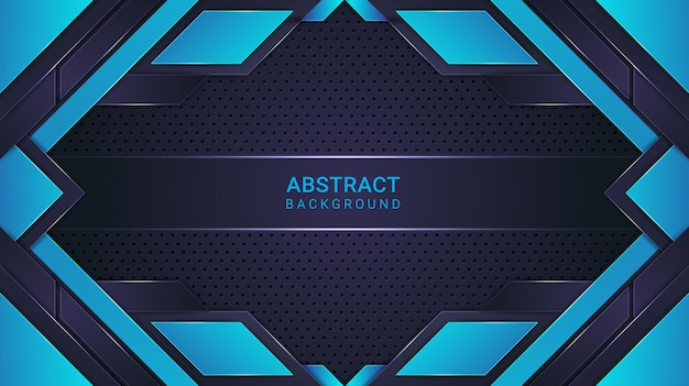 Elegante fondo abstracto estilo degradado cian y azul