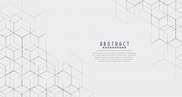 Elegante fondo abstracto de línea hexagonal