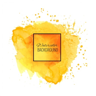 Elegante fondo amarillo suave acuarela